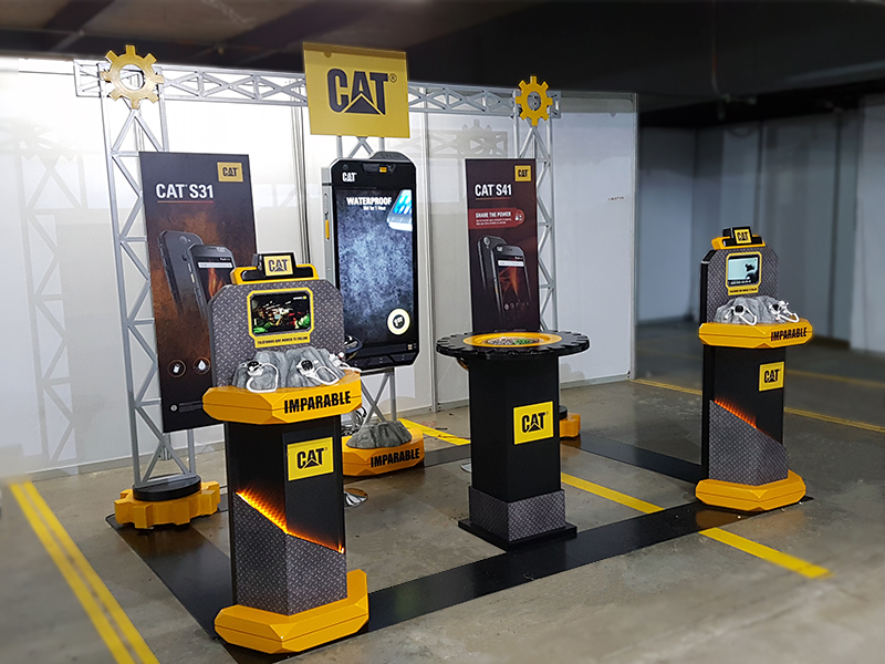 stand exhibicion caterpillar eventos interactivo 1