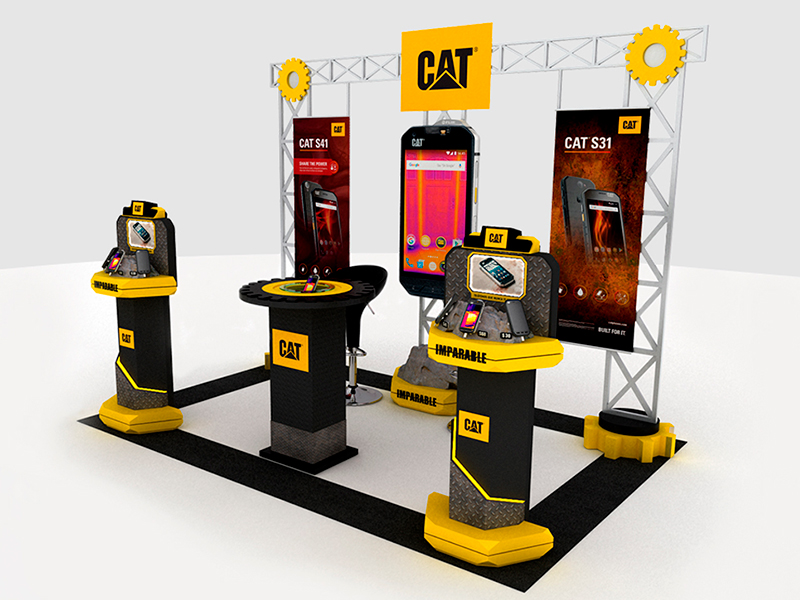 stand exhibicion caterpillar eventos interactivo 2